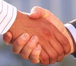 Image of Clear Solutions agreeing a cleaning contract
