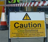 Image of Clear Solutions' safety sign