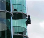 Clear Solutions carrying out a window cleaning contract at high level